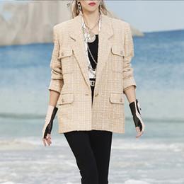 2019 abrigo de lana rosa con volantes Detectar tanto la luz a medida Liu con una pequeña capa de dulce, salado lata puede dulce de oro de tweed chaqueta comodín