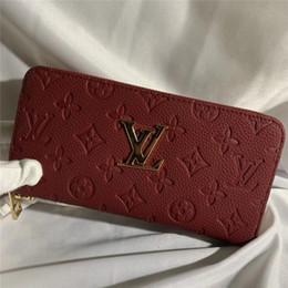 designs de portefeuille cool Promotion 2019 marque long portefeuille femmes sacs à main mode porte-monnaie porte-cartes portefeuilles de haute qualité d'embrayage sac d'argent PU portefeuille en cuir