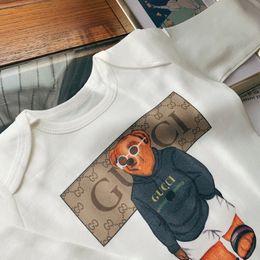 colarinho onesies atacado Desconto Kids_love Infant Romper Meninas Do Bebê de Manga Longa Macacões Designer de Roupas de Bebê Menino Recém-nascido Crianças Fralda de Algodão 0818