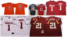 Canada Oklahoma Sooners # 1 Kyler Murray Vintage College Rush Limited New England 11 Julian Edelman 26 Sony Michel Maillots de Football Américain supplier new england football jersey Offre