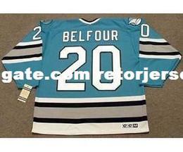 Ed belfour онлайн-Мужские, женские, детские-ED BELFOUR San Jose Sharks 1997 CCM Vintage MN Custom Любое ИмяНет. Хоккей Персонализированные трикотажные изделия