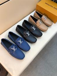 Zapatos cómodos de negocios informales online-Zapatos formales masculinos de alta calidad de la venta caliente en 2019ss Real Business Business Leisure Shoes Soft Sole cómodas de oficina zapatos