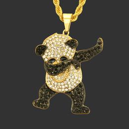 Panda Diamant Pendentif Européen Et Américain Hip Hop Cool Street Dance Collier Personnalité Hommes Et Femmes À La Mode Discothèque Pendentif ? partir de fabricateur