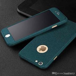 protectores de pantalla mate iphone 5s Rebajas E73 360 Estuche rígido de doble capa con acabado mate para funda iPhone 7 6 6S 5 5S SE 7 Plus con protector de pantalla de vidrio templado