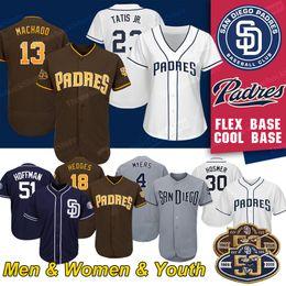 Camisetas de tony gwynn online-San Diego Custom Padres Jerseys Fernando Tatis Jr 23 Manny Machado 13 Tony Gwynn Eric Hosmer Béisbol Jersey