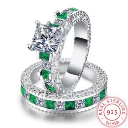 элегантные синие украшения для женщин Скидка Синий бриллиант зеленый бриллиант крест Сплит серебряные ювелирные изделия кольцо для мужчин женщин роскошные ювелирные изделия Кристалл драгоценный камень высокое качество элегантные ювелирные изделия