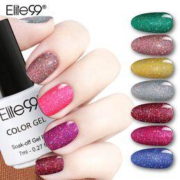 neongel-nagellack Rabatt Bling 7ml Neon Gel Nagellack 12 Farben Tränken Sie UV LED Glitter Gel Lack Nail Art Vernis langlebig