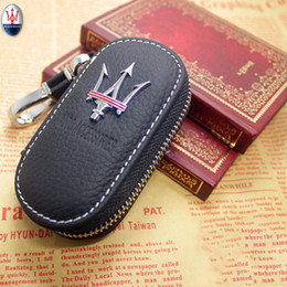 chave remota yaris Desconto Genuine couro genuíno dos homens chegada Bag Car Key Holders caso capa Carteiras Moda feminina Governanta Carteira Para Maserati 1