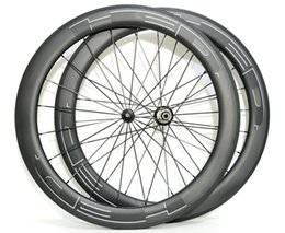 2019 bicicleta de ciclocross de carbono 700C HED profundidad ruedas de bicicleta de carretera de carbono de 60 mm de 25 mm de anchura remachador / tubular bicicleta freno de llanta de ruedas con UD acabado mate Powerway hubs R36