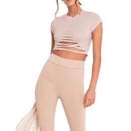 d51ef60fe9371 Sexy Women Ripped Holes Crop Top Hollow Out T-Shirt Short Sleeve Cropped  Feminino Top Shirt XL Black White Pink Roupa Feminina