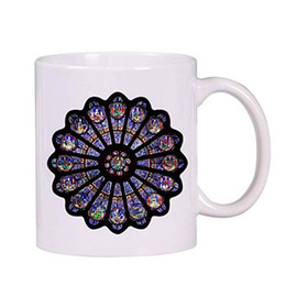 rose mugs wholesale Promo Codes - Mug With Notre Dame De Paris North Rose Window Retro Pattern Ceramic Cup 300ml Festive Exquisite Creative Gifts 2019 New