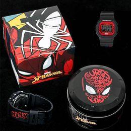 Caja de vengadores online-2019 Nueva manera de la tapa de la calidad de lujo del reloj del choque del reloj Marvel Avengers G5600 reloj deportivo Metal Box