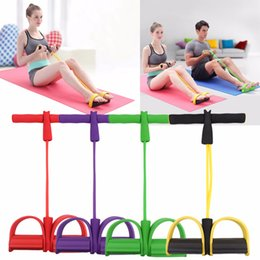2019 упражнения для женщин Fitness Resistance Band Pedal Exerciser Rope Tube Elastic Latex Pedal Pull Ropes Exercise Equipment Women Yoga Pilates Workout дешево упражнения для женщин