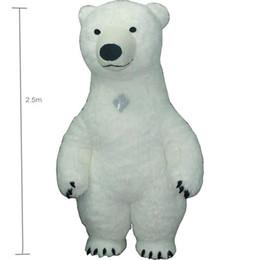 2019 mascote, traje, polar, urso 2.5 m branco bea Mascot Costume Para Adulto Inflável Urso Polar Traje Publicidade Para Fantasias Homem Personalizar Cabelo Curto De Altura mascote, traje, polar, urso barato
