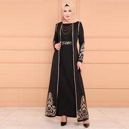длинные Абая платье повседневная мусульманское платье женщины мусульманин 2 шт и халат кафтан Абая тонкий платья партии Y525 от Поставщики индийские блузки