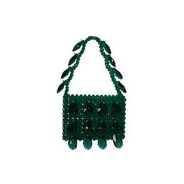 Модные бисерные сумки онлайн-2019 Мода Ручной Работы Одно Плечо Красочные Бисером Сумка Новый Продукт