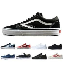 Argentina Vanss Original old skool zapatos casuales negro azul rojo Clásico hombres mujeres lienzo zapatillas moda Cool Skateboarding skate casual 36-44 cheap black polka dot canvas shoes Suministro