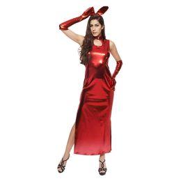 2019 rotes häschenkleid Erwachsene liefert rotes Kaninchen weibliche reizvolle Wäscheklagenkleidhäschenshowkostüm cheongsam Paare, die leidenschaftliche Liebe flirten günstig rotes häschenkleid