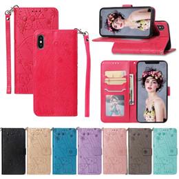 Etui portefeuille en cuir fleur d'éléphant pour Iphone 8 7 6 6 6 Plus 5 5S SE XS Max XR LG X Power3 V40 ThinQ LG Aristo 2 Stylo 4 G7 Flip Cover ? partir de fabricateur