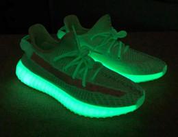Rabatt heißesten schuhe online-2019 V2 Gid Green Glow In The Dark Damen Laufschuhe, Laufschuhe Sneaker, Kanye West Designer Sportschuhe