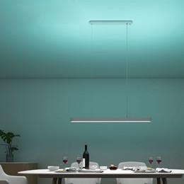 Luce pendente registrabile online-Ciondolo smart LED Light Dinner lampada colorata atmosfera della luce regolabile luminosità Ra95 CRI 1800LM Control Support App