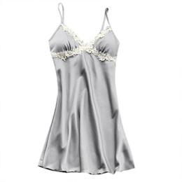 Женская сексуальная атласная Шелковая ночная рубашка женское белье пижамы Сексуальная топ слинг пижамы кружевное платье от Поставщики кросс-обратно верхней части бака оптом