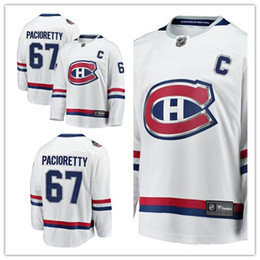 2019 nhl jersey canadiens Custom 2019 Men's Canadiens 67 Max Pacioretty Fanatics Branded White 2017 NHL 100 Classic Breakaway Player Montreal mujeres niños Jersey nhl jersey canadiens baratos