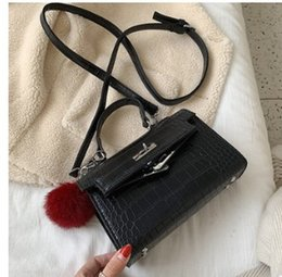 2019 bolsa vintage de jacarés Estilo Vintage Designer Alligator couro Mulheres sacolas Bolsa de Lady Bolsa Mensageiro bolsa saco de ombro Crocodile Bag bolsa vintage de jacarés barato
