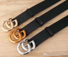 2019 cinturones xl para hebillas negro 2019 Cinturones de diseño Hombres y mujeres Cinturón de moda Mujer Cinturón de cuero Oro Plata y Hebilla negra rebajas cinturones xl para hebillas negro
