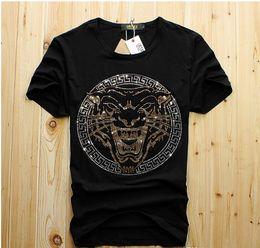 Mannluxuxdiamantentwurf T-Shirt Art- und Weiset-shirts Mann-lustige T-Shirts Markenbaumwolloberteile und freies Verschiffen der T-Stücke von Fabrikanten