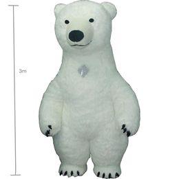 2019 capelli alti Il costume bianco della mascotte di bea di 3m per la pubblicità gonfiabile adulta del costume dell'orso polare per le fantasie Homem personalizza i capelli di scarsità alti capelli alti economici