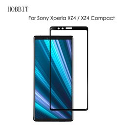 Xperia negra z on-line-Para sony xperia xz4 0.3mm preto 3d curvo cobertura completa 9 h protetor de tela de vidro temperado 3d filme de cobertura total para sony