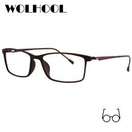 a81bb6f620 Discount eyewear prescription glasses - Rectangle Titanium Alloy Glasses  Frame Men Myopia Eye Glass Prescription Eyeglasses