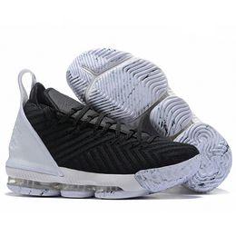 baadc29f237 Baixo Preço Lebron 16 Mens Tênis De Basquete Preto Branco James 16 XVI  Popular Formadores Sports Designer Sneakers Outlet