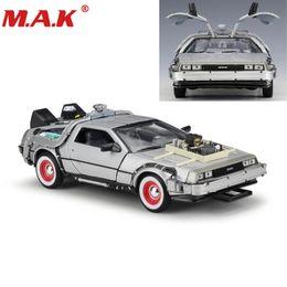 modelo de carro fundido 24 Desconto Liga de metal Modelo de Carro Brinquedos 1:24 Escala Diecast Car Oart 1 2 3 Máquina Do Tempo Delorean Dmc-12 Modelo Welly de Volta Para O Futuro Carro J190525