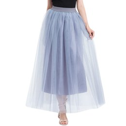 395f22ac9d plus size tulle skirts Coupons - Women Plus Size Mesh Tulle Skirt 2019  Fashon Pleated Princess
