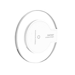 Caricabatterie wireless qi rotondo online-Turno senza caricatore universale chiaro Qi Wireless Charging Pad Fast Charger