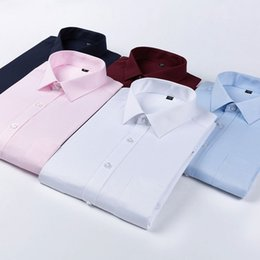 Neue Empfehlen Grundlegenden Stil Büro Männer Hemden Patchwork Kragen Schwarze Taste Langarm Twill Pflegeleicht Männlichen Kleidung 10 Farbe Preisnachlass Hemden