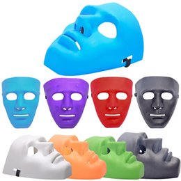 white male full face mask Promo Codes - New Type Halloween Mask Dance PVC Mask Masquerade Party Masks Halloween Hip-hop Male Masks 7 Colors