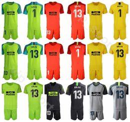 Jérsei de futebol personalizado on-line-2019 2020 goleiro de futebol 13 de janeiro Oblak Jersey conjunto homens goleiro GK 1 Antonio Adan 1 MOYA camisa de futebol Kits uniforme nome personalizado