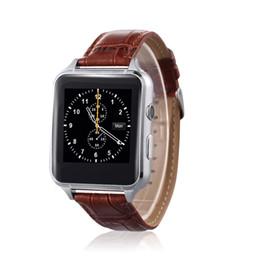 Orologio di cuoio astuto dell'orologio di vendita caldo con la carta di Bluetooth del telefono dello schermo di Globoidal guardi l'all'ingrosso della fabbrica che indossa l'attrezzatura astuta da