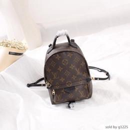 реальные кожаные рюкзаки модные женщины Скидка Горячие классические коричневые буквы холст с натуральной кожи мужчин рюкзак сцепления женщин сумки модные сумки M41562