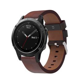 Correa para la muñeca de cuero genuino 22 mm Correa de reloj de repuesto para la correa del reloj para Garmin Fenix 5 Instalación rápida Accesorios Pulsera desde fabricantes