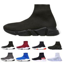 Canada sock  shoes Speed Runner Designer De Luxe Baskets Chaussette Chaussures Pour Hommes Femmes Baskets Choc Race Runner Triple Noir Blanc Bleu Rouge Hommes Bottes Casual cheap boots shock Offre