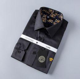 4227b00355 Camicia casual da uomo di design da uomo di lusso con maniche lunghe a  righe Camisa Masculina Camicetta di moda maschile a maniche corte