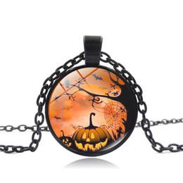 Envío Gratis Vintage Style Chain Gargantilla Collares Halloween Glass Cabochon Colgante Fancy Collares Para Unisex Joyería de Moda desde fabricantes