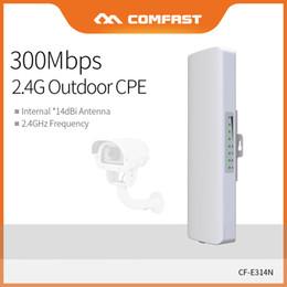 2019 freischaltete mobile hotspot 4g Comfast CPE-Brücke im Freien 300 Mbps Long Range Extender 3 km 2,4 G WI-FI-Antenne 2 * 14 dBI Nanostation CF-E314NV2