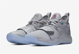 paul shoes Promo Codes - New PG 2.5 Wolf Grey Mens Basketball Shoes For Sale High Quality Paul George PG Lighted Shoes Sports Sneakers With Box