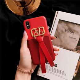 2019 iphone elegant Für apple iphone x xs max xr 8/7/6 plus shell rot band leder telefon case einfache elegante schutzhülle cool shock reduction mobile shell rabatt iphone elegant