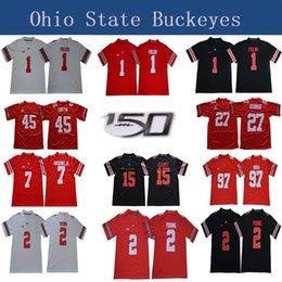 2020 camisetas de fútbol del estado de ohio 150 TH Ohio State Buckeyes 1 Justin Campos 2 Chase Young 7 Dwayne Haskins Jr 45 Archie Griffin 97 Nick Bosa 15 Elliott NCAA Football jerseys camisetas de fútbol del estado de ohio baratos